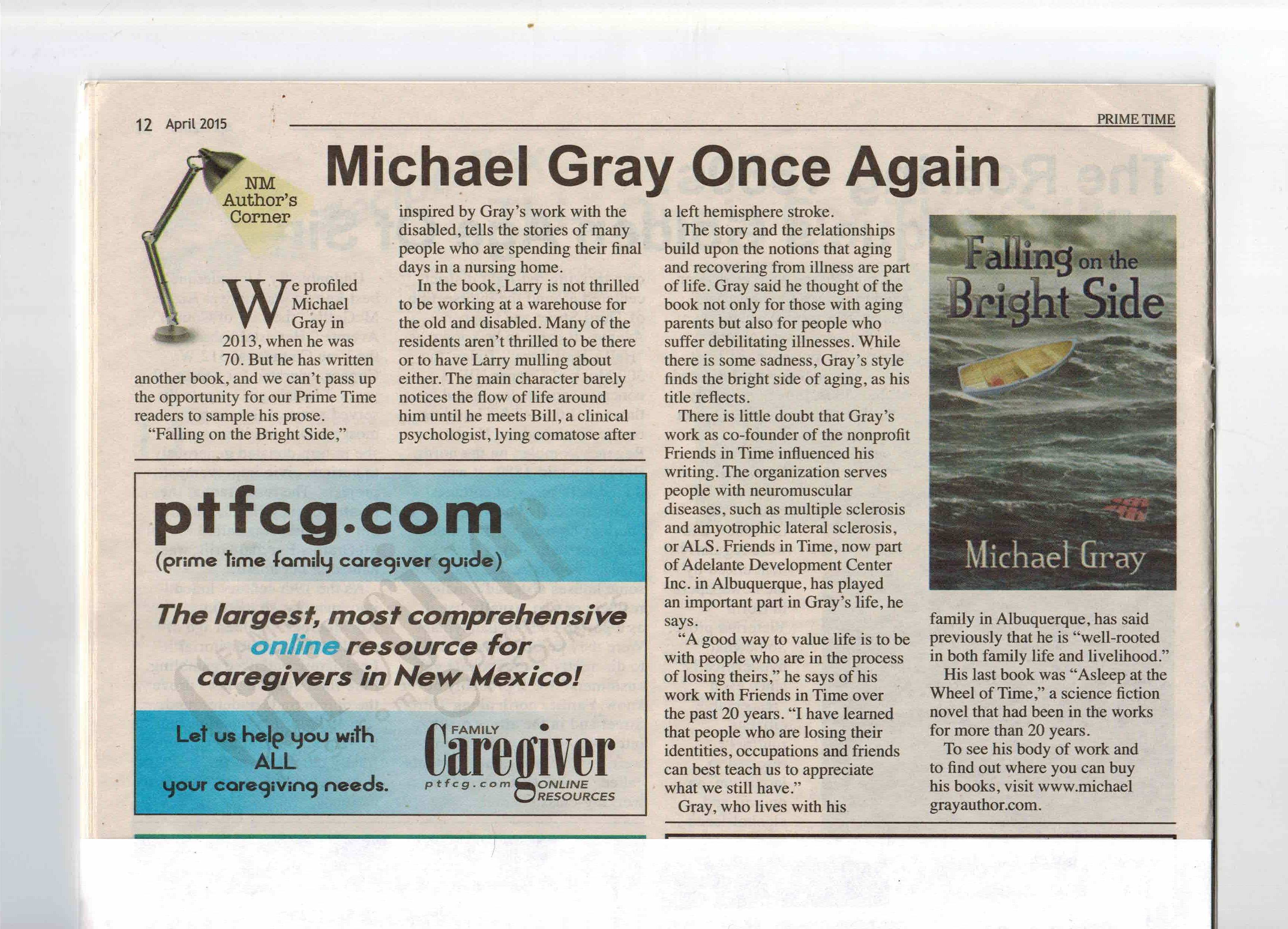 PrimeTime, April 2015 - Michael Gray Once Again
